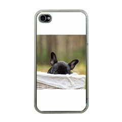 French Bulldog Peeking Puppy Apple iPhone 4 Case (Clear)