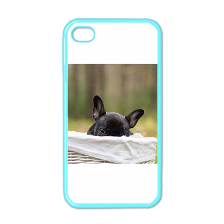 French Bulldog Peeking Puppy Apple iPhone 4 Case (Color)