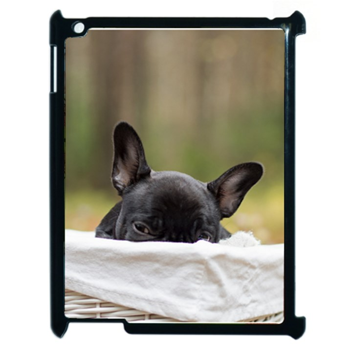 French Bulldog Peeking Puppy Apple iPad 2 Case (Black)