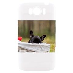 French Bulldog Peeking Puppy HTC Sensation XL Hardshell Case