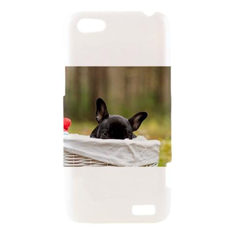 French Bulldog Peeking Puppy HTC One V Hardshell Case