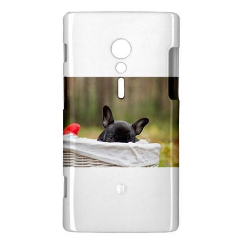 French Bulldog Peeking Puppy Sony Xperia ion