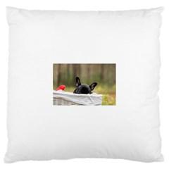 French Bulldog Peeking Puppy Large Cushion Case (One Side)