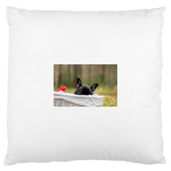 French Bulldog Peeking Puppy Large Cushion Case (Two Sides)