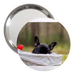 French Bulldog Peeking Puppy 3  Handbag Mirrors