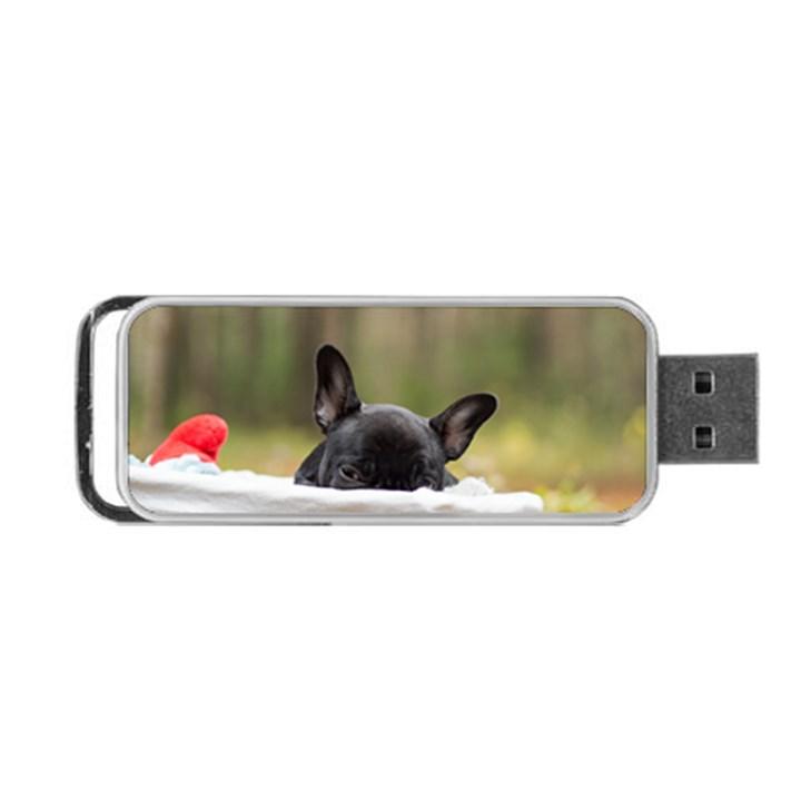 French Bulldog Peeking Puppy Portable USB Flash (One Side)