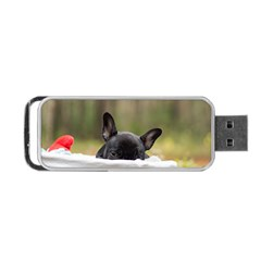 French Bulldog Peeking Puppy Portable USB Flash (Two Sides)