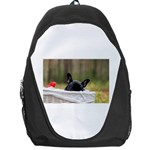 French Bulldog Peeking Puppy Backpack Bag Front