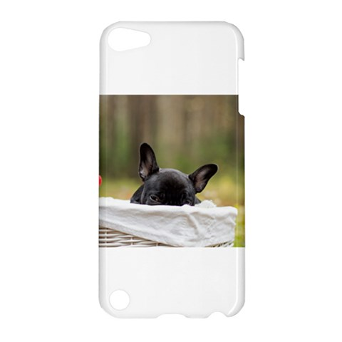 French Bulldog Peeking Puppy Apple iPod Touch 5 Hardshell Case