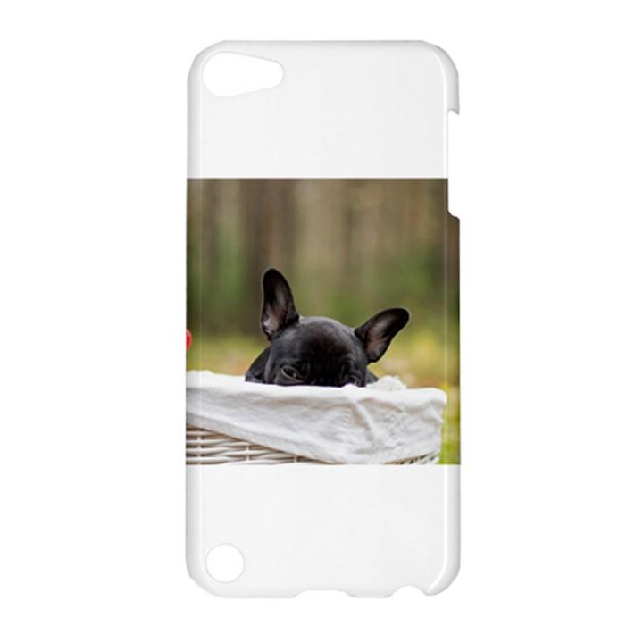 French Bulldog Peeking Puppy Apple iPod Touch 5 Hardshell Case