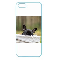 French Bulldog Peeking Puppy Apple Seamless iPhone 5 Case (Color)