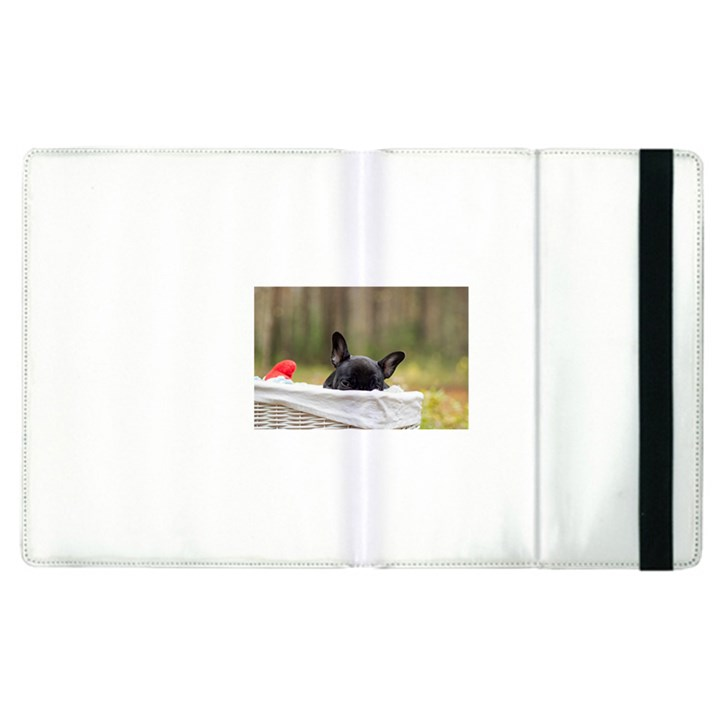 French Bulldog Peeking Puppy Apple iPad 3/4 Flip Case