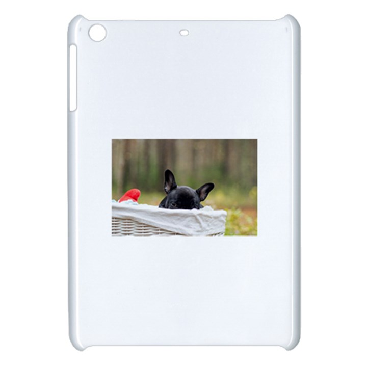 French Bulldog Peeking Puppy Apple iPad Mini Hardshell Case
