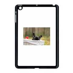 French Bulldog Peeking Puppy Apple iPad Mini Case (Black)