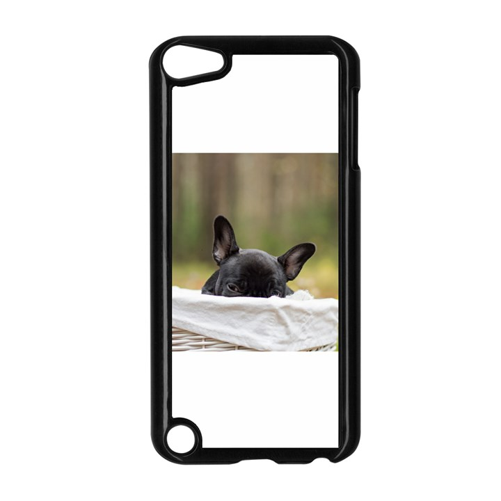 French Bulldog Peeking Puppy Apple iPod Touch 5 Case (Black)