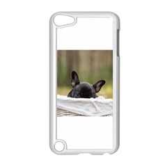 French Bulldog Peeking Puppy Apple iPod Touch 5 Case (White)
