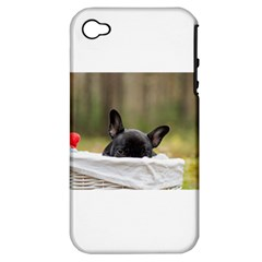French Bulldog Peeking Puppy Apple iPhone 4/4S Hardshell Case (PC+Silicone)