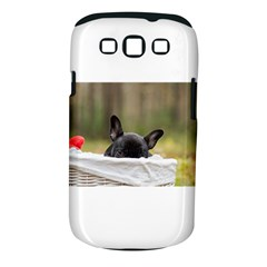 French Bulldog Peeking Puppy Samsung Galaxy S Iii Classic Hardshell Case (pc+silicone)