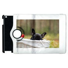French Bulldog Peeking Puppy Apple iPad 2 Flip 360 Case