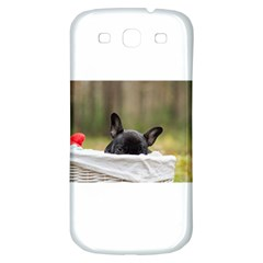 French Bulldog Peeking Puppy Samsung Galaxy S3 S III Classic Hardshell Back Case