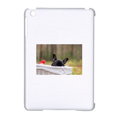 French Bulldog Peeking Puppy Apple iPad Mini Hardshell Case (Compatible with Smart Cover)