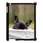 French Bulldog Peeking Puppy Apple iPad 3/4 Case (Black) Front