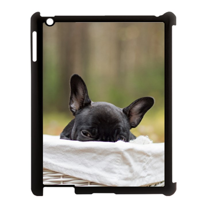 French Bulldog Peeking Puppy Apple iPad 3/4 Case (Black)