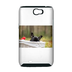French Bulldog Peeking Puppy Samsung Galaxy Note 2 Hardshell Case (PC+Silicone)