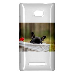 French Bulldog Peeking Puppy HTC 8X