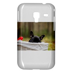 French Bulldog Peeking Puppy Samsung Galaxy Ace Plus S7500 Hardshell Case