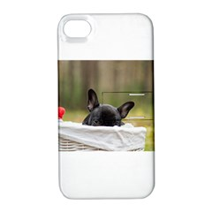 French Bulldog Peeking Puppy Apple iPhone 4/4S Hardshell Case with Stand