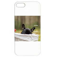 French Bulldog Peeking Puppy Apple iPhone 5 Hardshell Case with Stand