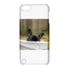 French Bulldog Peeking Puppy Apple iPod Touch 5 Hardshell Case with Stand