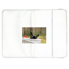 French Bulldog Peeking Puppy Samsung Galaxy Tab 7  P1000 Flip Case