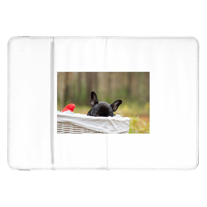 French Bulldog Peeking Puppy Samsung Galaxy Tab 8.9  P7300 Flip Case