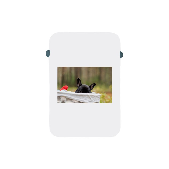 French Bulldog Peeking Puppy Apple iPad Mini Protective Soft Cases