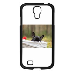 French Bulldog Peeking Puppy Samsung Galaxy S4 I9500/ I9505 Case (Black)