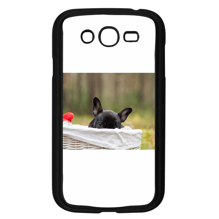French Bulldog Peeking Puppy Samsung Galaxy Grand DUOS I9082 Case (Black)
