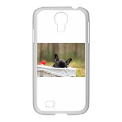 French Bulldog Peeking Puppy Samsung GALAXY S4 I9500/ I9505 Case (White)