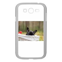 French Bulldog Peeking Puppy Samsung Galaxy Grand DUOS I9082 Case (White)
