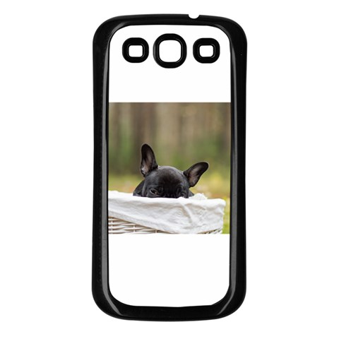 French Bulldog Peeking Puppy Samsung Galaxy S3 Back Case (Black)
