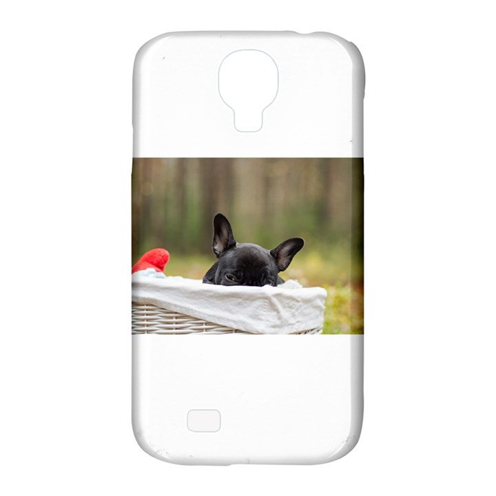 French Bulldog Peeking Puppy Samsung Galaxy S4 Classic Hardshell Case (PC+Silicone)