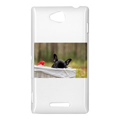 French Bulldog Peeking Puppy Sony Xperia C (S39H)
