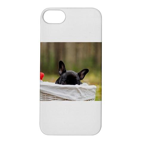 French Bulldog Peeking Puppy Apple iPhone 5S/ SE Hardshell Case