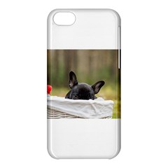 French Bulldog Peeking Puppy Apple iPhone 5C Hardshell Case