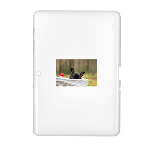 French Bulldog Peeking Puppy Samsung Galaxy Tab 2 (10.1 ) P5100 Hardshell Case