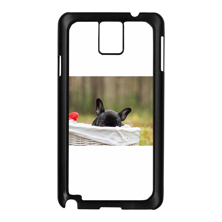 French Bulldog Peeking Puppy Samsung Galaxy Note 3 N9005 Case (Black)