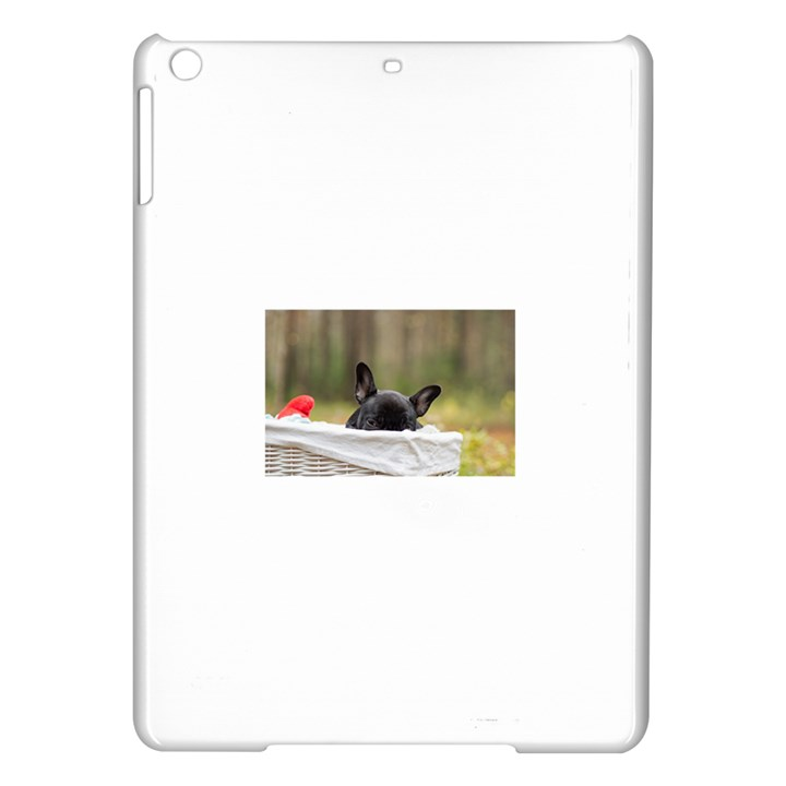 French Bulldog Peeking Puppy iPad Air Hardshell Cases