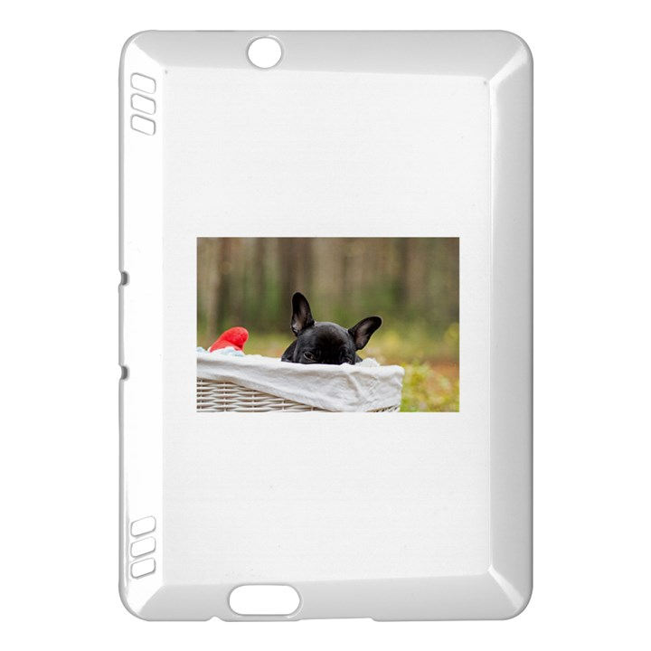 French Bulldog Peeking Puppy Kindle Fire HDX Hardshell Case