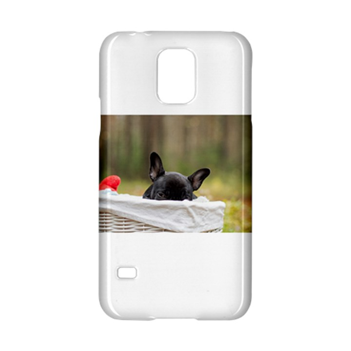 French Bulldog Peeking Puppy Samsung Galaxy S5 Hardshell Case